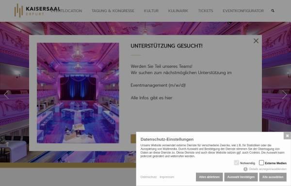 Vorschau von www.kaisersaal.de, Kaisersaal Gastronomie- und Veranstaltungs GmbH