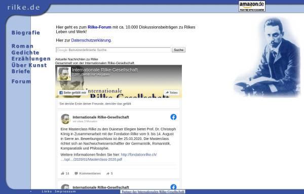 Vorschau von www.rilke.de, rilke.de - rilke entdecken - rilke besprechen