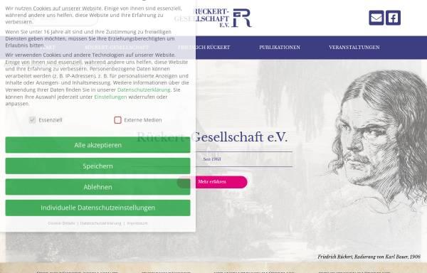 Vorschau von www.rueckert-gesellschaft.de, Rückert Gesellschaft e.V.