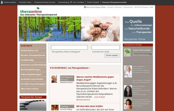 Vorschau von thera-online.de, Thera Online