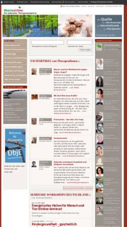 Vorschau der mobilen Webseite thera-online.de, Thera Online