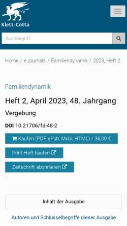 Vorschau der mobilen Webseite www.familiendynamik.de, Familiendynamik