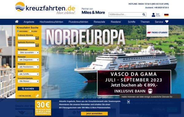 Vorschau von www.kreuzfahrten.de, Reisebüro Nees GmbH