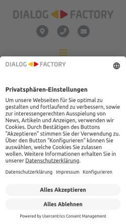 Vorschau der mobilen Webseite www.dialogfactory.de, Dialog-Factory GmbH