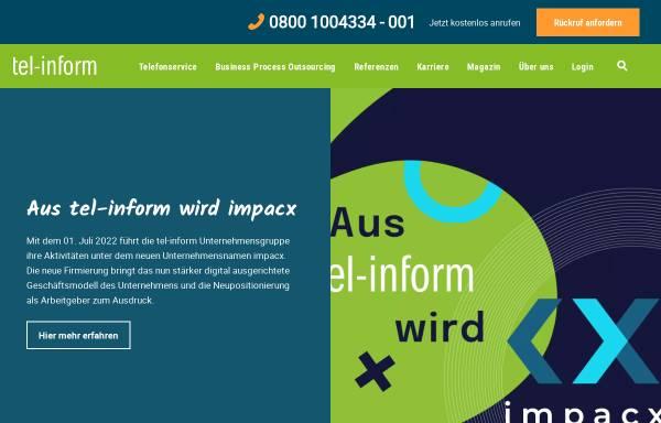 Vorschau von www.tel-inform.de, Tel-inform customer-services GmbH