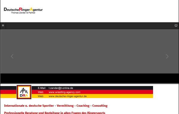 Vorschau von www.deutsche-ringer-agentur.de, Deutsche Ringer Agentur Thomas Zander & Partner