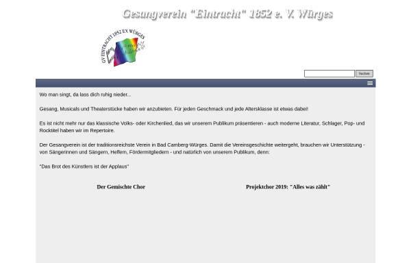 Vorschau von www.gesangverein-wuerges.de, GV-Eintracht 1852 e.V. - Würges