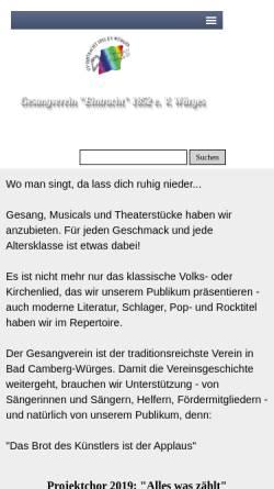 Vorschau der mobilen Webseite www.gesangverein-wuerges.de, GV-Eintracht 1852 e.V. - Würges