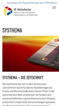 Vorschau der mobilen Webseite if-weinheim.de, Systhema