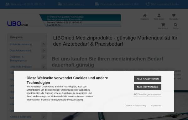 Vorschau von www.libomed.de, Libomed medizinischer Warenhandel, Inh. Michael Borkowski
