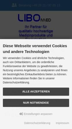 Vorschau der mobilen Webseite www.libomed.de, Libomed medizinischer Warenhandel, Inh. Michael Borkowski