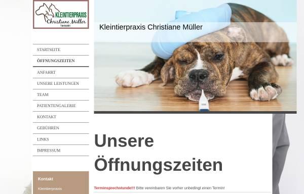 Vorschau von www.tierarztpraxis-burg.de, Dr. Sabine Müller – Fachtierärztin für Kleintiere.