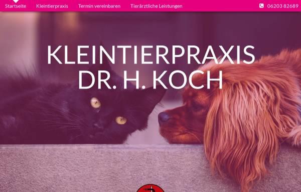 Vorschau von www.tierarzt-edingen-neckarhausen.de, Kleintierpraxis Dr. Koch