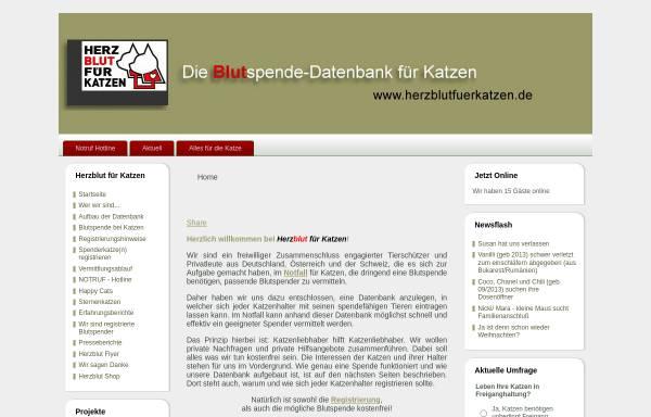 Vorschau von www.herzblutfuerkatzen.de, Herzblut für Katzen e.V.