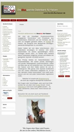 Vorschau der mobilen Webseite www.herzblutfuerkatzen.de, Herzblut für Katzen e.V.