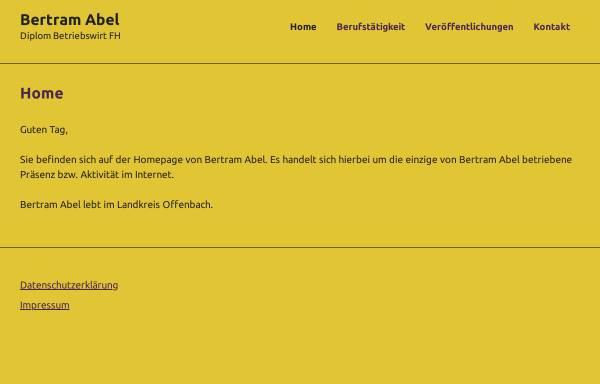 Vorschau von www.buero-abel.de, Buero:abel Unternehmensberatung - Inh. Bertram Abel, Dipl. Betriebswirt FH
