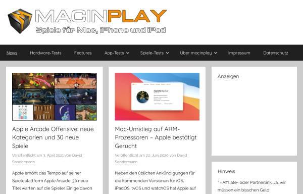 Vorschau von macinplay.de, Macinplay.de