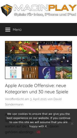 Vorschau der mobilen Webseite macinplay.de, Macinplay.de