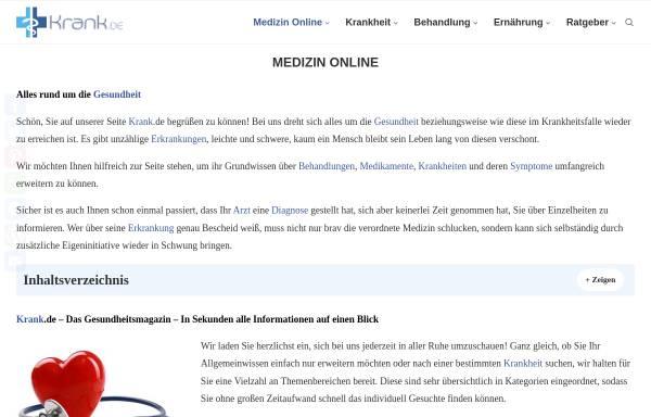 Vorschau von www.medizin-online.de, Medizin-Online