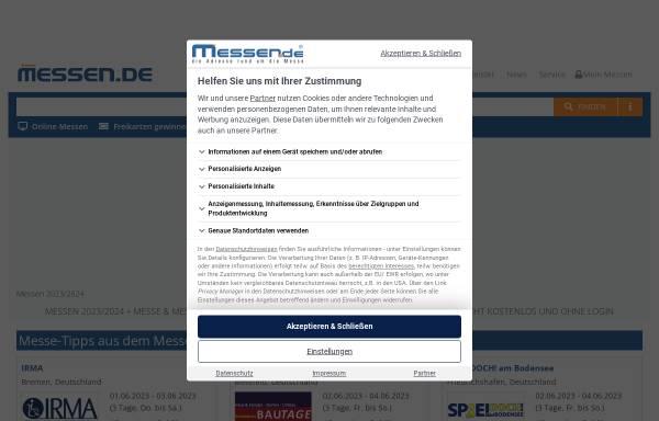 Vorschau von www.messen.de, Messen.de - Tom und Marko Haubenreisser GbR