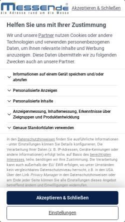 Vorschau der mobilen Webseite www.messen.de, Messen.de - Tom und Marko Haubenreisser GbR