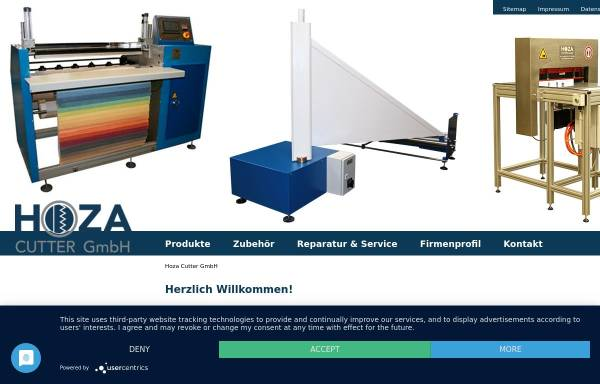 Vorschau von www.hoza-cutter.de, Hoza Cutter GmbH