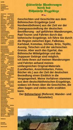 Vorschau der mobilen Webseite www.boehmisches-erzgebirge.cz, Wanderungen im Böhmischen Erzgebirge