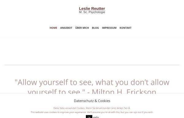 Vorschau von www.lesliereutter.de, Leslie Reutter