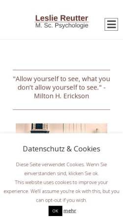 Vorschau der mobilen Webseite www.lesliereutter.de, Leslie Reutter