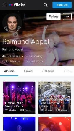 Vorschau der mobilen Webseite photobasis.net, Photobasis.net, Raimund Appel