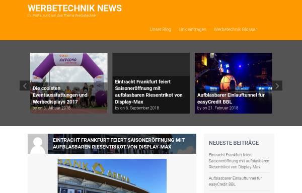 Vorschau von www.werbetechnik-news.de, Werbetechnik News