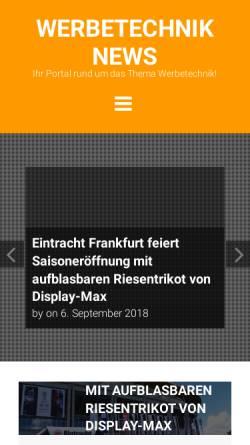 Vorschau der mobilen Webseite www.werbetechnik-news.de, Werbetechnik News