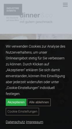 Vorschau der mobilen Webseite dinnerundco.de, dinner&co