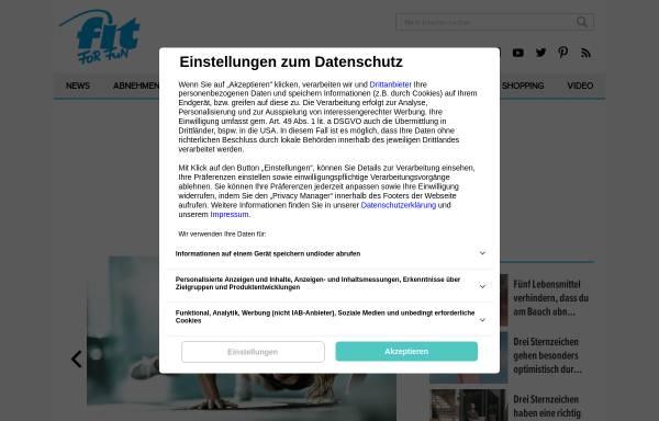 Vorschau von www.fitforfun.de, Fit for Fun