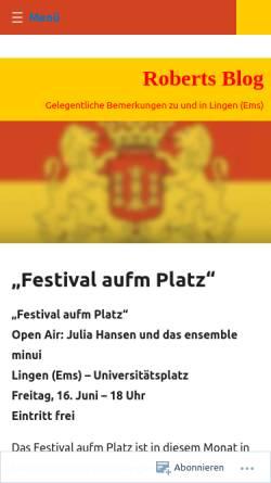 Vorschau der mobilen Webseite robertkoop.wordpress.com, Koop, Robert