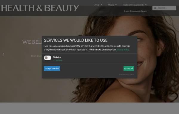 Vorschau von www.health-and-beauty.com, Health and Beauty Business Media GmbH