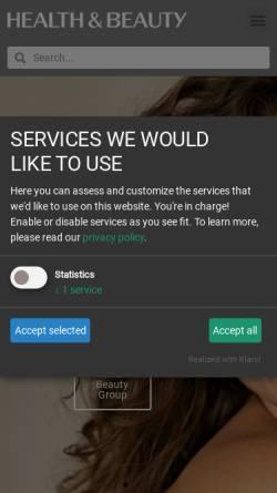 Vorschau der mobilen Webseite www.health-and-beauty.com, Health and Beauty Business Media GmbH