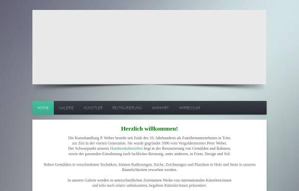 Vorschau von www.kunsthandlung-weber.de, Kunsthandlung / Galerie P. Weber