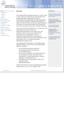 Vorschau der mobilen Webseite www.gjf.de, Gesellschaft für Japanforschung (GJF)