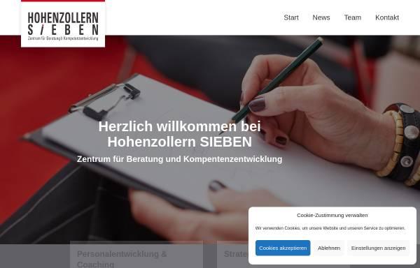 Vorschau von www.hohenzollern-7.de, Hohenzollern Sieben, Zentrum für Beratung und Kompetenzentwicklung