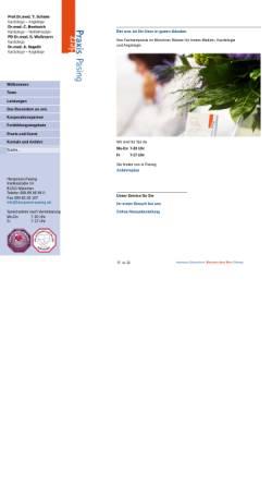 Vorschau der mobilen Webseite www.herzpraxis-pasing.de, Herzpraxis Pasing