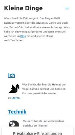 Vorschau der mobilen Webseite www.vogel-nest.de, Vogel-Nest