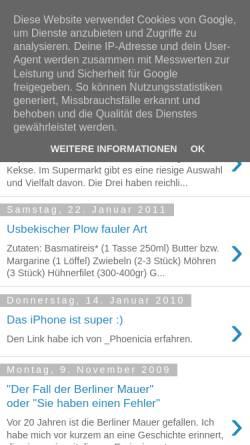 Vorschau der mobilen Webseite tagebuch.ametov.net, Deutsches Tagebuch