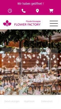 Vorschau der mobilen Webseite www.flower-factory.de, Flower Factory