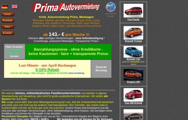 Vorschau von www.kreta-mietwagen.de, Prima Autovermietung, Ierapetra