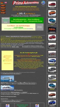 Vorschau der mobilen Webseite www.kreta-mietwagen.de, Prima Autovermietung, Ierapetra