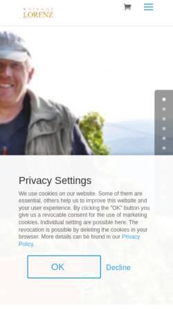 Vorschau der mobilen Webseite www.lorenz-weine.de, Weingut Toni Lorenz
