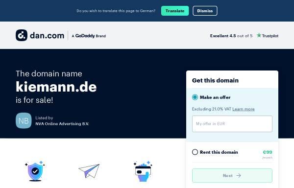 Vorschau von www.kiemann.de, Küferei Anton Kiemann