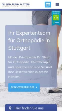 Vorschau der mobilen Webseite www.dr-steeb.de, Steeb, Dr. med. Frank O.