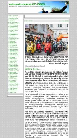 Vorschau der mobilen Webseite www.motorpress-austria.com, Auto-Motor-Special